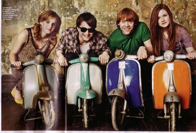Hermione,Harry,Ron et Ginny