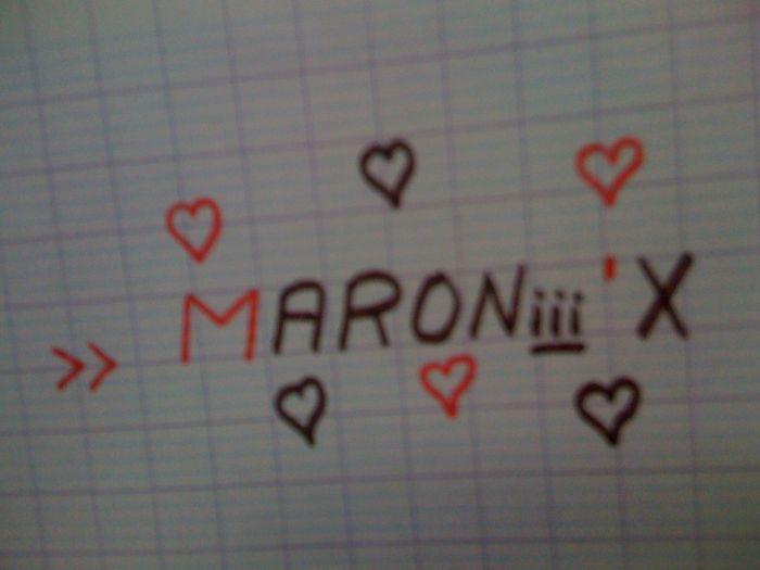 >> MARONiii ' X ... <3