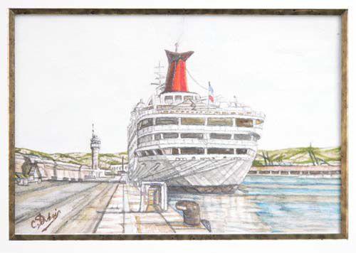 le port MARSEILLE Aquarelle
