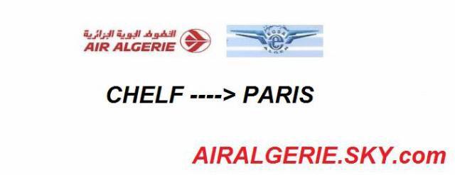 AIR ALGERIE reliera Chlef et Paris