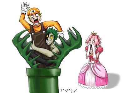 naru en mario ok mais sa princesse c'est hinata!!