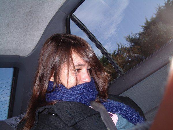 Dans la voiture avec la Femme pour aller voir Tentation :D&#