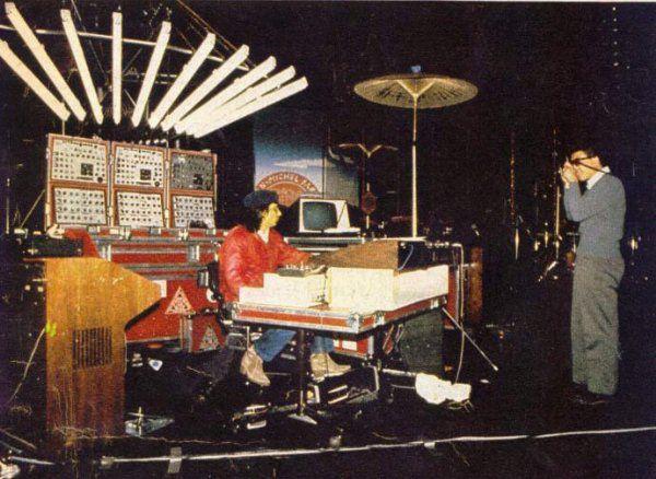 Jarre, premier musicien occidental en Chine, en 1981.