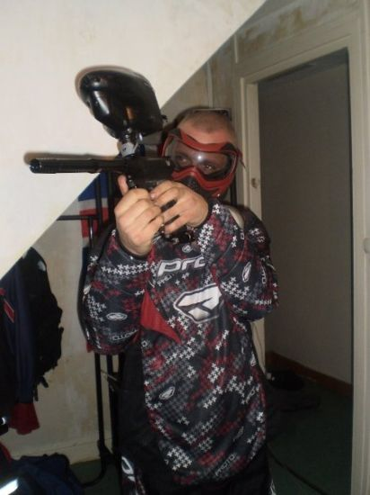 mon ensemble paint ball pour le speedball