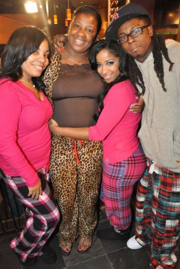 Lil Wayne, his mom (Cita) & his ex-wife (toya)
