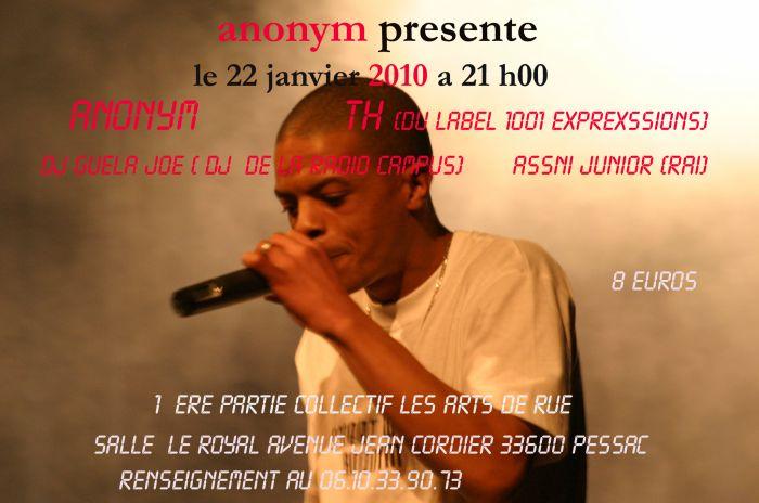 concert anonymprod le 22janvier 2010
