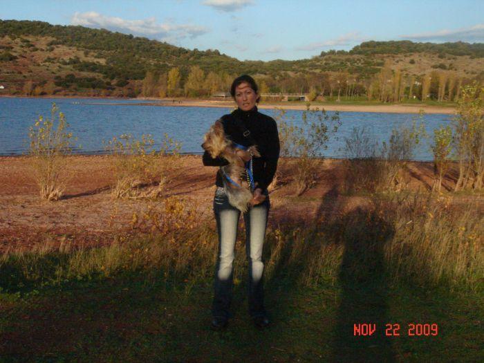 Moi au lac de Salagou