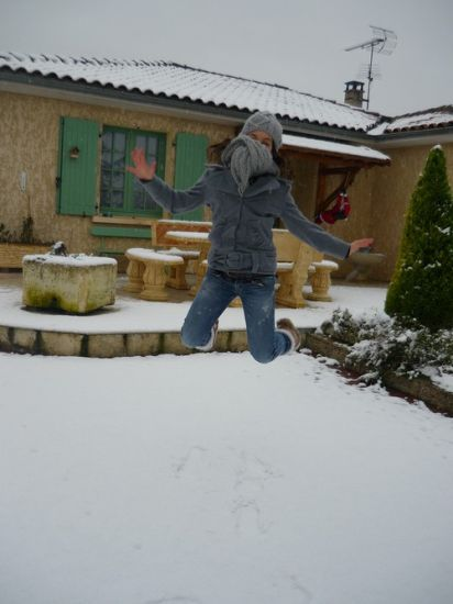 Dans la neigee