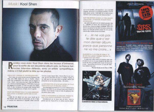 """apparition dans """" Projecteur """" le magazine"""
