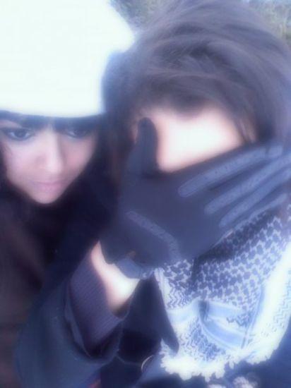 Farouh & Moi sous la neige
