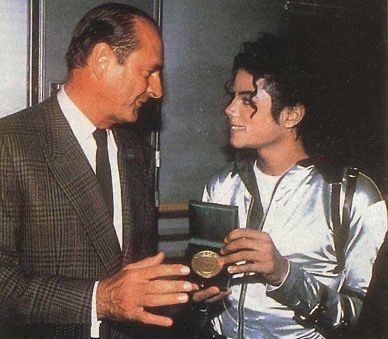 MJ et jacque chirac