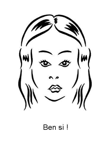 Petite caricature de moi-même (toujours avec la perruque) ^^
