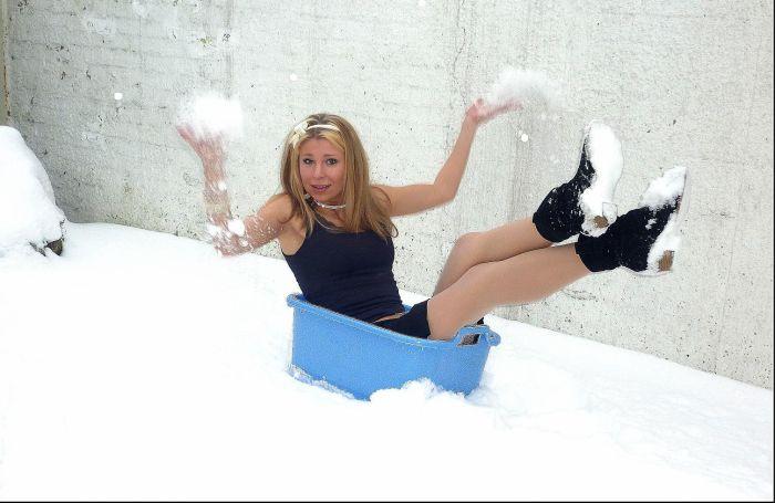 en mode neige