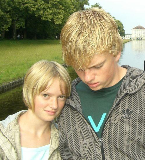 Ma correspondante allemande : Anika et son frère Sascha