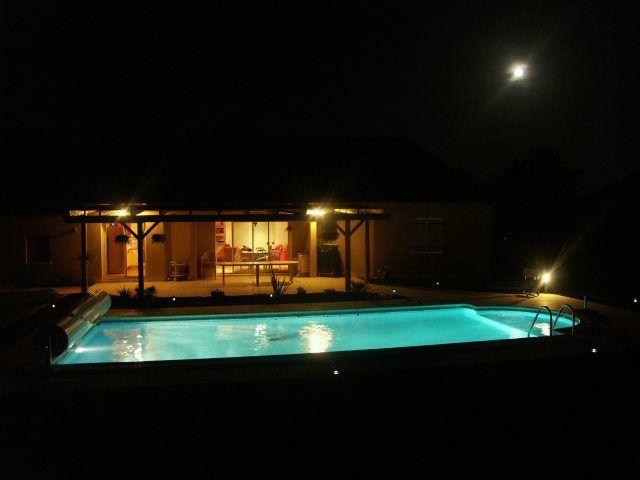 ma piscine vue de nuit