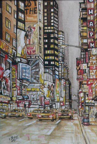 New - York  Aquarelle de 2010
