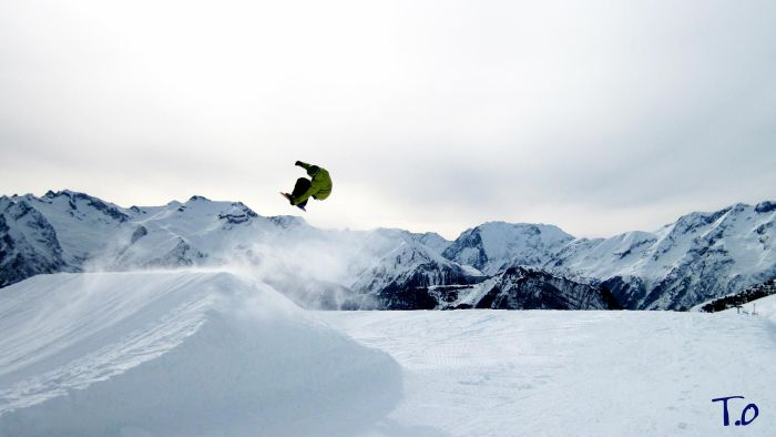 Big Air de 18m à l'Alpe d'Huez
