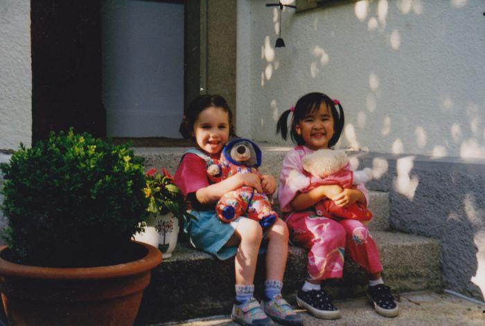 Moi & Flora petites :D
