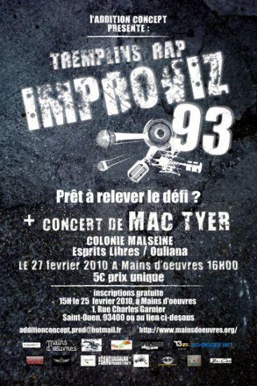 "Tremplin ""IMPROVIZ93"" + Concert MAC TYER !!!"