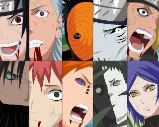 Tous les Membres de L'Akatsuki en Force !!