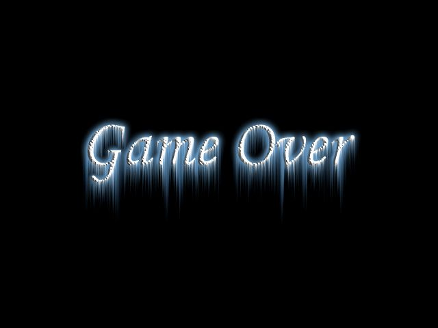 the game is......(( over ))
