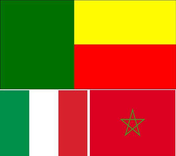 """ Bénin - Maroc - Italie I Love <3 """