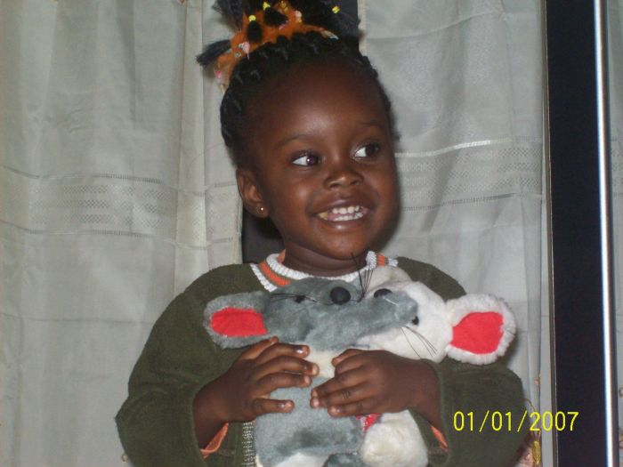 Bébé Daniela, ma petite soeur