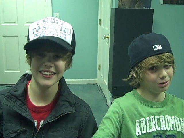 Justin Bieber and Christian Beadles. <3