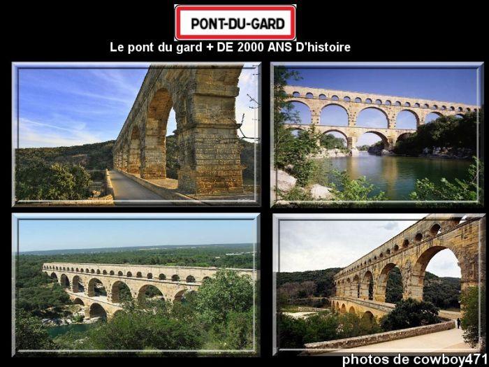 Photos du Pont du Gard departement 30 département du Gard