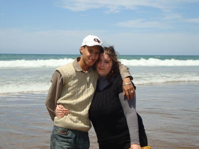 Moi et ma cherie a la plage de Aglou Tiznit