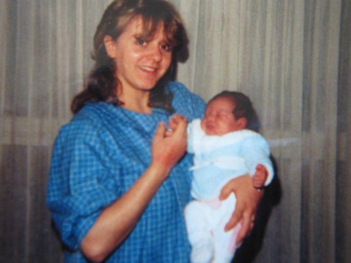mon épouse et ma première  fille