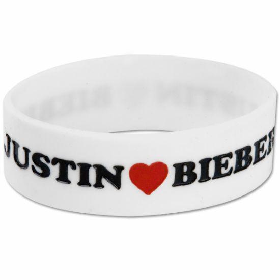 Justin Bieber Heart Rubber Bracelet