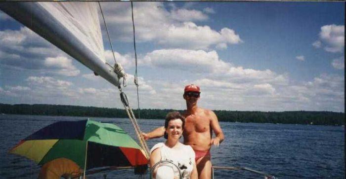ma femme et moi sur un lac de 35 km