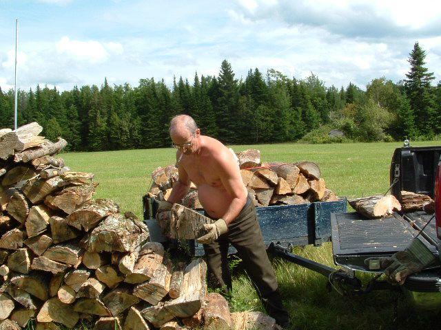 dernier voyage de bois avant l'hiver