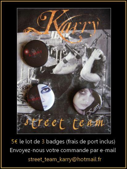 5 ¤ les 3 badegs.Commendez à : street_team_karry@hotmail.fr