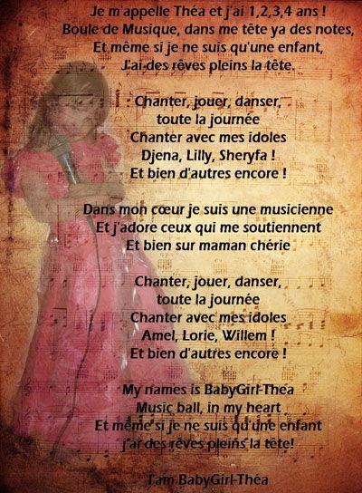 """paroles de """"i'am babygirl-thea"""""""