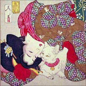 Une geisha & son chat