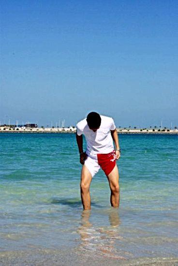 moi dans l'eau
