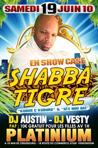 SHABBA TIGRE  BOOKING:sofresh-entertainment@live.fr