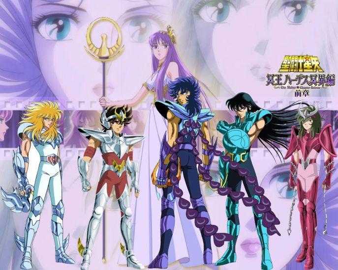 les chevaliers du zodiaque et athena