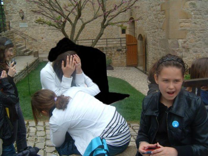 Moi & Charlène au Chateau de Malbrouck