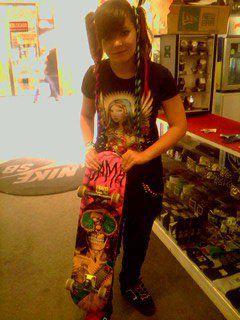 moi et mon nouveau skate <3