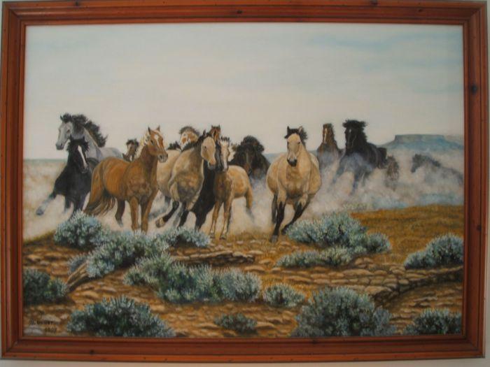 Pintura de mi John Wayne / Peinture de mon John Wayne
