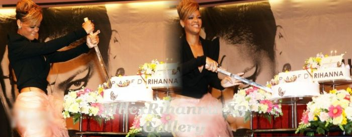 Rihanna à sa petite fête pour son anniversaire .