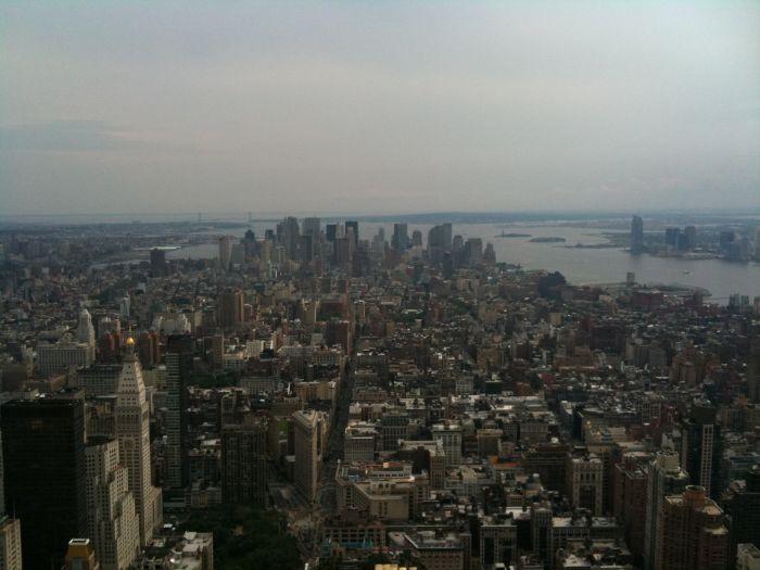 Vue de New York au 86e étage de l'Empire State Building