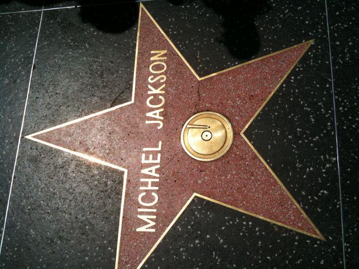 L'etoile de Michael Jackson sur le Walk Of Fame (dsl c la ph