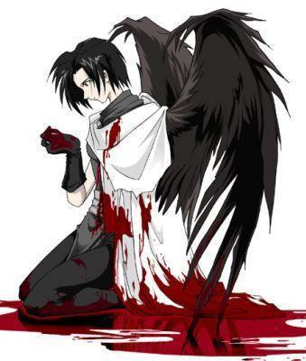 cet ange baigne dans le sang  de son aimée ,elle c entaillée