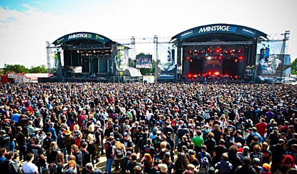 Hellfest 2010  les deux scène principal