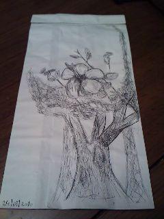 voila un dessin dessiner de ma main