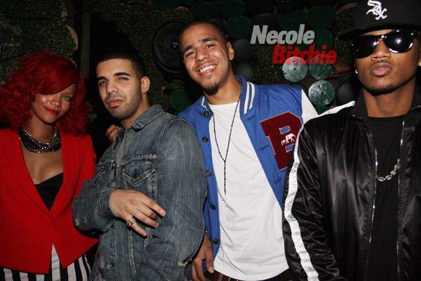 Rihanna Drake J Cole  & Trey <3